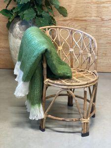Wollen plaid visgraat groen