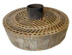 kandelaar rond hout