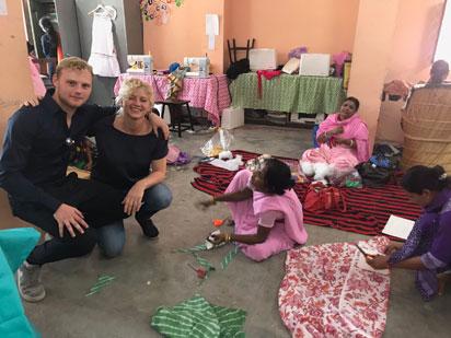 Ook zoon Jasper gaat wel eens mee naar India!